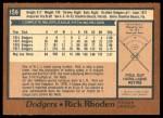 1978 O-Pee-Chee #159  Rick Rhoden  Back Thumbnail
