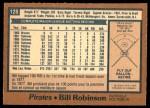 1978 O-Pee-Chee #128  Bill Robinson  Back Thumbnail