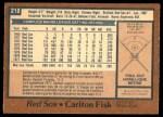 1978 O-Pee-Chee #210  Carlton Fisk  Back Thumbnail