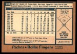 1978 O-Pee-Chee #201  Rollie Fingers  Back Thumbnail