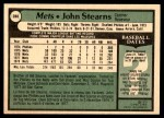 1979 O-Pee-Chee #280  John Stearns  Back Thumbnail