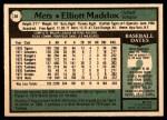 1979 O-Pee-Chee #28  Elliott Maddox  Back Thumbnail