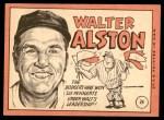 1969 Topps #24 xBRK Walter Alston  Back Thumbnail