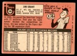 1969 Topps #306  Mudcat Grant  Back Thumbnail