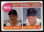 1969 Topps #468 YN  -  Bob Robertson / Del Canton Pirates Rookies Front Thumbnail