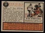 1962 Topps #269  Bob Oldis  Back Thumbnail