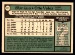 1979 O-Pee-Chee #241  Otto Velez  Back Thumbnail