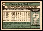 1979 O-Pee-Chee #268  Jack Clark  Back Thumbnail