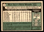 1979 O-Pee-Chee #85  Alvis Woods  Back Thumbnail