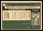 1979 O-Pee-Chee #117  Bob Forsch  Back Thumbnail