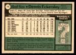 1979 O-Pee-Chee #16  Dennis Eckersley  Back Thumbnail