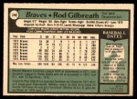 1979 O-Pee-Chee #296  Rod Gilbreath  Back Thumbnail