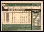 1979 O-Pee-Chee #266  Charlie Hough  Back Thumbnail