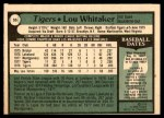 1979 O-Pee-Chee #55  Lou Whitaker  Back Thumbnail