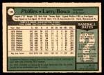 1979 O-Pee-Chee #104  Larry Bowa  Back Thumbnail