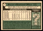 1979 O-Pee-Chee #62  Rowland Office  Back Thumbnail