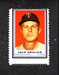 1962 Topps Stamps  Jack Kralick  Front Thumbnail