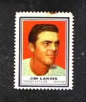 1962 Topps Stamps  Jim Landis  Front Thumbnail