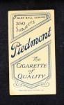 1909 T206  Jake Beckley  Back Thumbnail