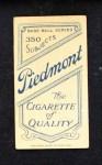 1909 T206  Steve Evans  Back Thumbnail