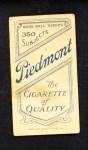 1909 T206  James Westlake  Back Thumbnail