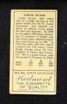 1911 T205  Louis Evans  Back Thumbnail