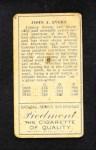 1911 T205  Johnny Evers  Back Thumbnail