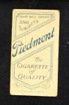 1909 T206  Mike Mowrey  Back Thumbnail