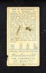 1911 T205  Kitty Bransfield  Back Thumbnail
