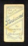 1909 T206 BALL George McQuillan  Back Thumbnail