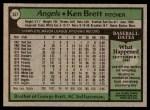 1979 Topps #557  Ken Brett  Back Thumbnail