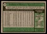 1979 Topps #438  Horace Speed  Back Thumbnail