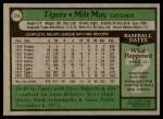 1979 Topps #316  Milt May  Back Thumbnail