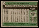 1979 Topps #305  Willie Montanez  Back Thumbnail