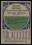 1975 Topps #165  Geoff Petrie  Back Thumbnail