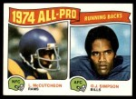 1975 Topps #209   -  O.J. Simpson / Lawrence McCutcheon All-Pro Running Backs Front Thumbnail