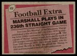 1977 Topps #452   -  Jim Marshall Record Breaker Back Thumbnail