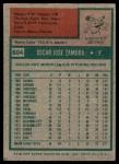 1975 Topps #604  Oscar Zamora  Back Thumbnail