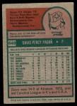 1975 Topps #648  Dave Pagan  Back Thumbnail