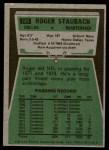 1975 Topps #145  Roger Staubach  Back Thumbnail