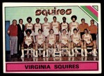 1975 Topps #330   Virginia Squires Front Thumbnail