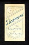 1909 T206  Bill Chappelle  Back Thumbnail