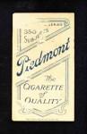 1909 T206  Newt Randall  Back Thumbnail