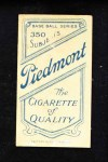 1909 T206 NY Buck Herzog  Back Thumbnail