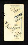1909 T206 POR Tommy Leach  Back Thumbnail