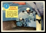 1963 Topps Astronauts 3D #2   Floating Astronauts Front Thumbnail