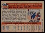 1957 Topps #288  Ted Lepcio  Back Thumbnail