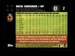 2007 Topps #2  Nick Swisher  Back Thumbnail