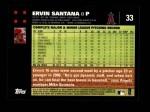 2007 Topps #33  Ervin Santana  Back Thumbnail