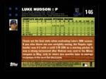 2007 Topps #146  Luke Hudson  Back Thumbnail